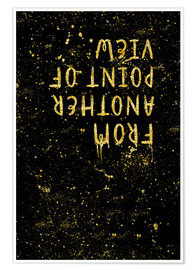 Premium-plakat TEXT ART GOLD From another point of view