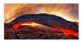 Premium-plakat Mesa Arch Sunrise, Canyonlands National Park, Utah, USA