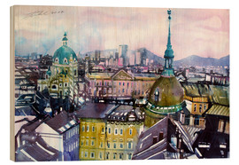 Print på træ  Vienna, view to the Karls church - Johann Pickl