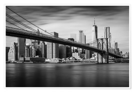 Premium-plakat New York City - Brooklyn Bridge and Skyline