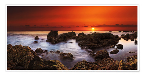 Premium-plakat La Gomera Sunset at Playa de Valle Gran Rey