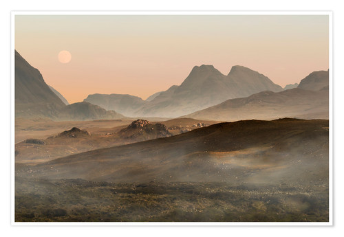 Premium-plakat Isle of Skye morning panorama