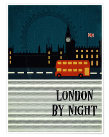 Premium-plakat London by Night