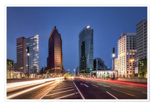 Premium-plakat Potsdamer Platz Berlin in the evening