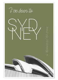 Premium-plakat Popart Sydney Opera I have been to Color: Calliste Green