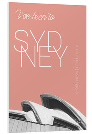 Print på skumplade  Popart Sydney Opera I have been to color: blooming dahlia - campus graphics