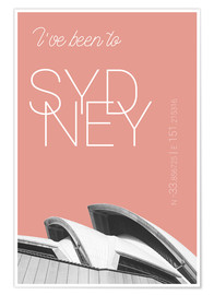 Premium-plakat  Popart Sydney Opera I have been to color: blooming dahlia - campus graphics