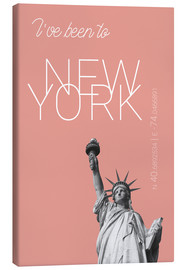 Lærredsbillede  Popart New York Statue of Liberty I have been to Color: blooming dahlia - campus graphics