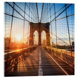 Akrylbillede  Brooklyn Bridge in New York City - Jan Christopher Becke
