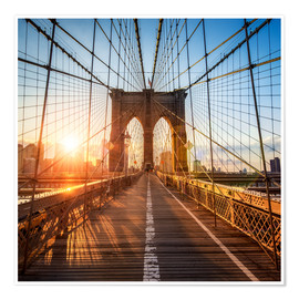 Premium-plakat Brooklyn Bridge in New York City