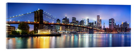 Akrylbillede  Brooklyn Bridge panorama in New York City, USA - Jan Christopher Becke