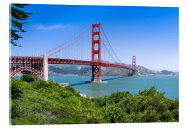 Akrylbillede  Golden Gate Bridge in San Francisco, California, USA - Jan Christopher Becke