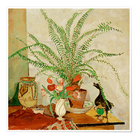 Premium-plakat Still life with leaf plant