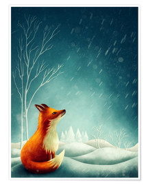 Premium-plakat Fox in winter