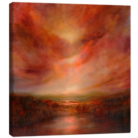 Lærredsbillede  evening glow - Annette Schmucker