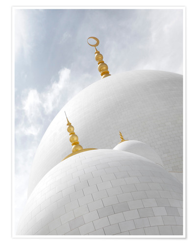 Premium-plakat white cupolas of sheikh zayed mosque