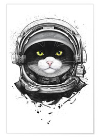 Premium-plakat Cosmic Cat