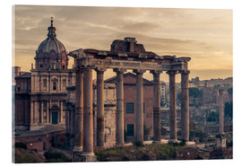 Akrylbillede  The Roman Forum at sunrise