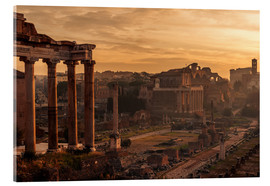 Akrylbillede  Rome : the Temple of Saturn