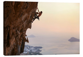 Lærredsbillede  Climber on Kalymnos - Greece