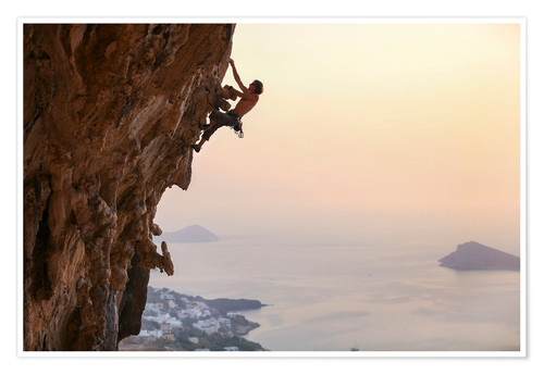 Premium-plakat Climber on Kalymnos - Greece