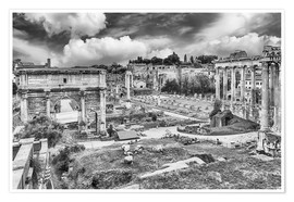 Premium-plakat ruins of the Roman Forum in Rome