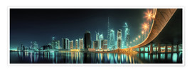 Premium-plakat Panoramic view - Dubai Business Bay