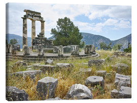 Lærredsbillede  Athena Pronaia Sanctuary - site of Delphi