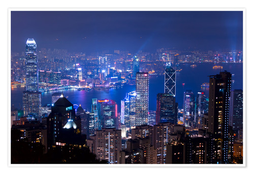 Premium-plakat View of Hong Kong from Victoria Peak