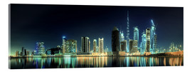 Akrylbillede  Panorama of the business houses of Dubai