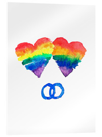 Akrylbillede  Rainbow Love