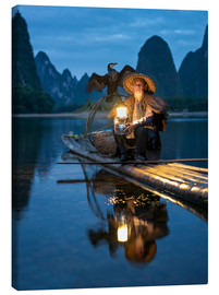Lærredsbillede  Old cormorant fisherman in Guilin, China - Jan Christopher Becke