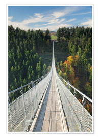 Premium-plakat Geierlay Chain Bridge, Hunsrück