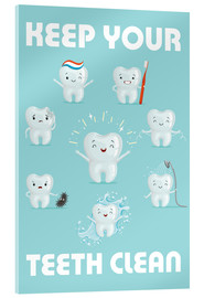 Akrylbillede  Keep your teeth clean - Kidz Collection