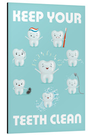Print på aluminium  Keep your teeth clean - Kidz Collection