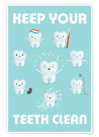 Premium-plakat  Keep your teeth clean - Kidz Collection