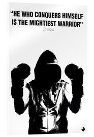 Akrylbillede  WARRIOR Motivational Quotes - Paola Morpheus