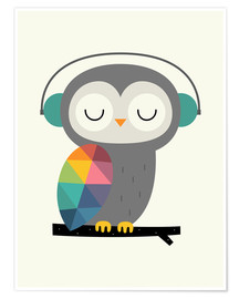Premium-plakat  Owl time - Andy Westface
