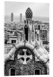 Akrylbillede  Impressive architecture and mosaic art at Park Guell