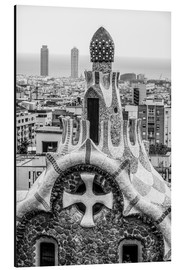 Print på aluminium  Impressive architecture and mosaic art at Park Guell