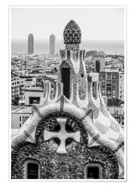 Premium-plakat  Impressive architecture and mosaic art at Park Guell