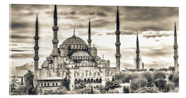 Akrylbillede  Blue mosque in sepia