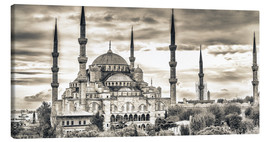 Lærredsbillede  Blue mosque in sepia