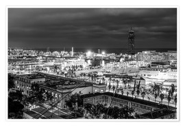 Premium-plakat  Beautiful view over the Port of Barcelona