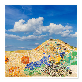 Premium-plakat  Mosaic in the Park Güell