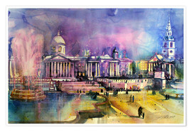 Premium-plakat London, Trafalgar Square