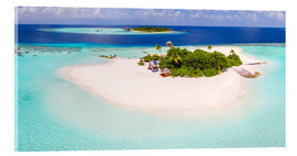 Akrylbillede  Aerial view of island in the Maldives - Matteo Colombo