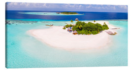 Lærredsbillede  Aerial view of island in the Maldives - Matteo Colombo