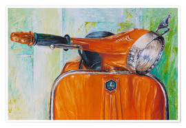 Premium-plakat  Vespa orange - Renate Berghaus
