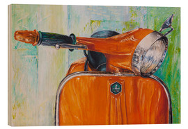 Print på træ  Vespa orange - Renate Berghaus